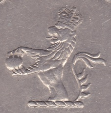 mark coin coat arms hong kong lion pearl