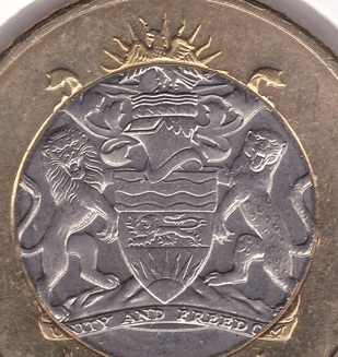 mark coin coat arms malawi unity and freedom